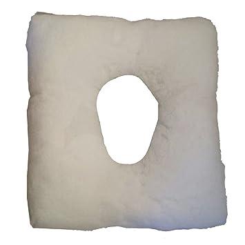 Cojín antiescaras cuadrado y con agujero, 44x44x9 cm