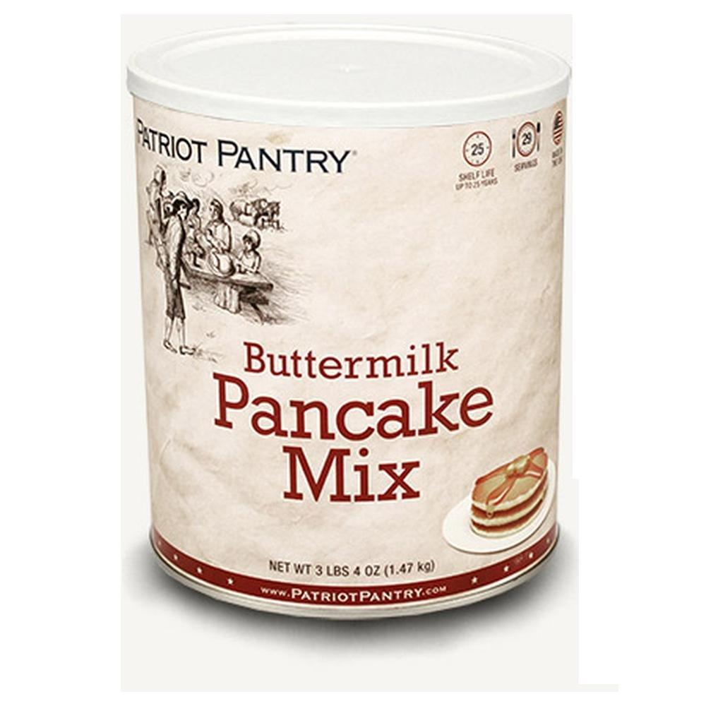 Patriot Pantry Buttermilk Pancake Mix (21 servings) #10 Can Bulk Emergency Storage Food Supply, Up to 25-Year Shelf Life