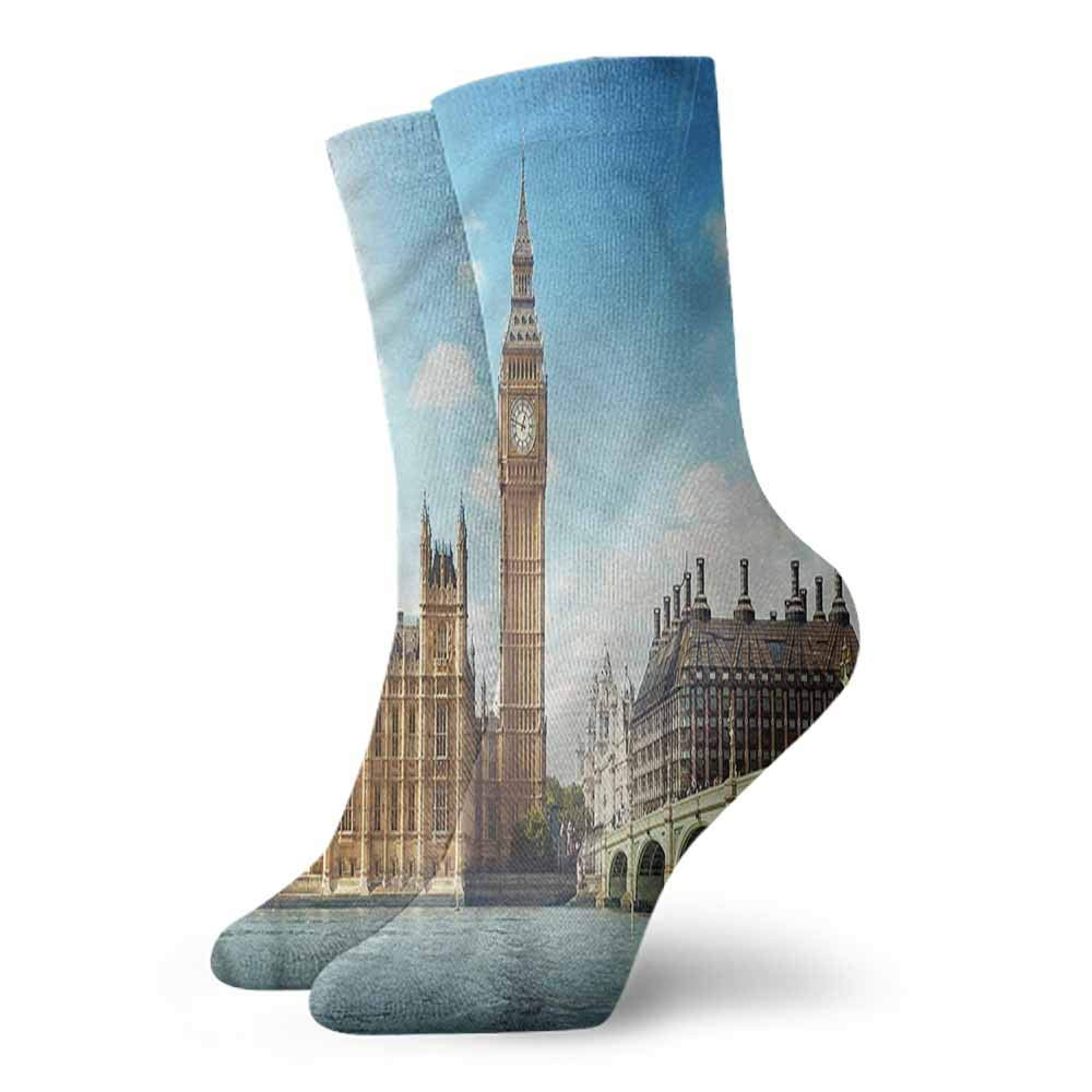 Socks Cute London,Sunset Scenery of Palace,socks men pack dress