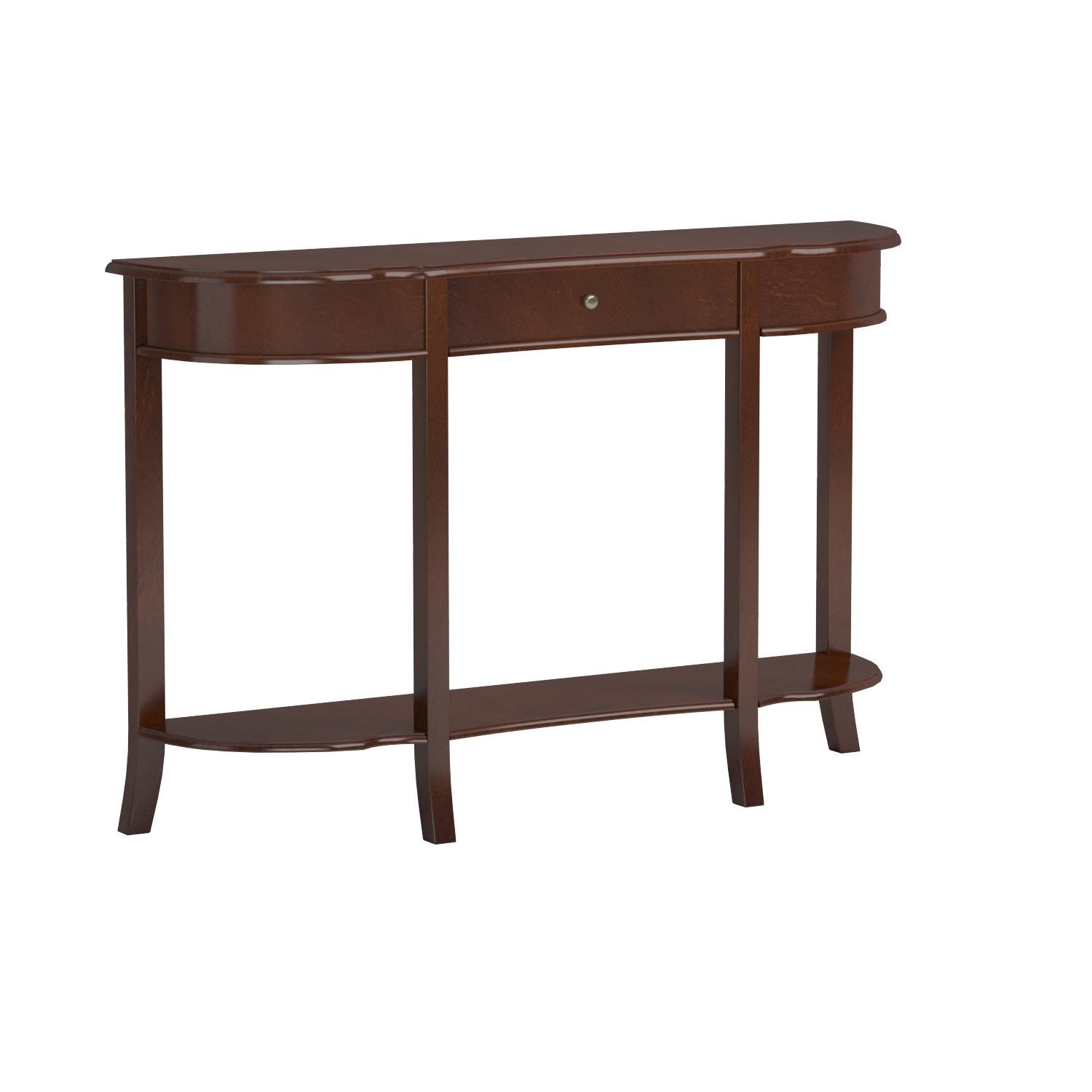 Frenchi Home Furnishing Console Sofa Table with Drawer, Walnut