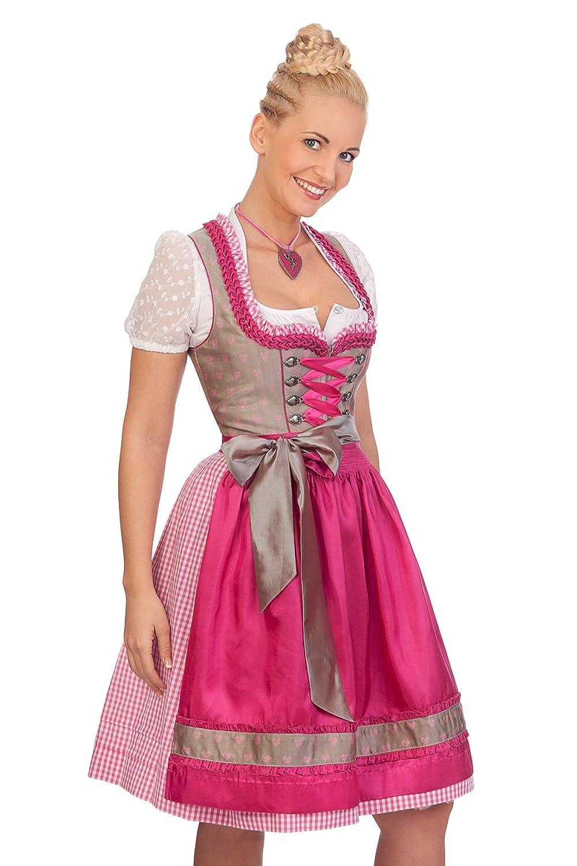 Trachten Mididirndl 2tlg. - IMKE - pink