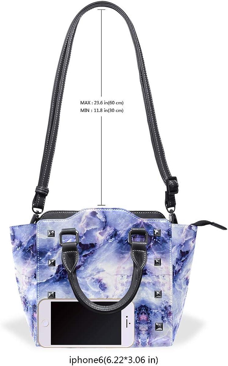 Blue Rock Marble Womens Classy Satchel Handbag Handbag With shoulder Strap Crossbody Bag