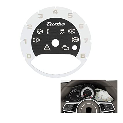 TOMALL Central Tachometer in White Compatible for 2017 2018 Porsche Cayenne Panamera Turbo Replacement Interior Instrument