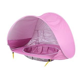 Tenda da campeggio per bambini Tenda da campeggio pieghevole per bambini Tenda da campeggio automatica Tenda da campeggio portatile Protezione UV per il sole Protezione solare per neonati (rosa)