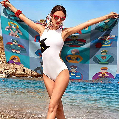 Comic Strip Girl Costumes Makeup - xixiBO Soft Bath Towel W28 xL55