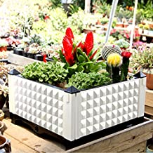 Raised Vegetable Garden Bed Kit,Freely Assembly Planter Box Big Capacity Durable PP with Scientific Drainer System