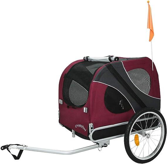 DOGGYHUT Remolque EXTRA GRANDE para perros Remolque de Bicicletas ...