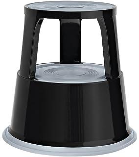 Wedo 212101 - Taburete con ruedas de metal, negro