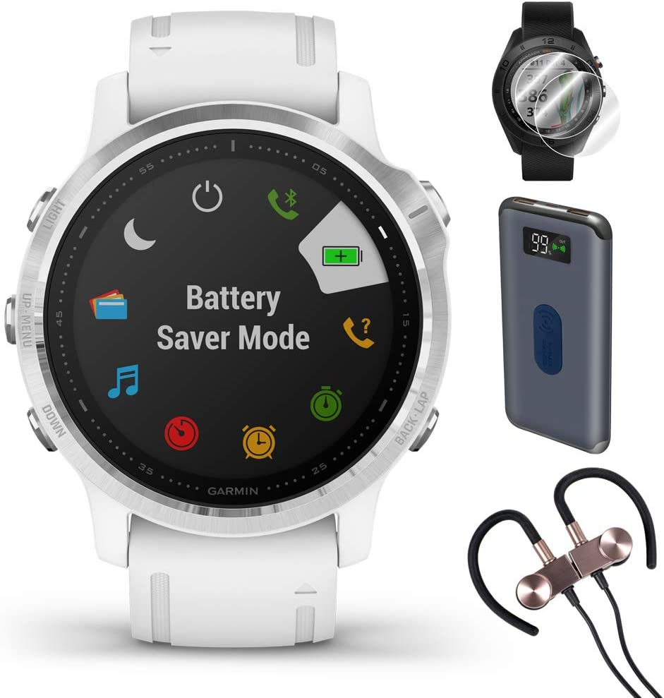 Garmin Fenix 6S Multisport GPS Smartwatch(010-02159-01) + Wireless Sport Earbuds & More