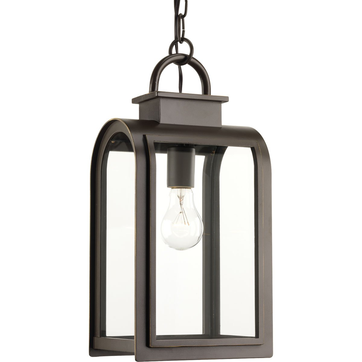 Progress Lighting P6531-108 Traditional/Casual 1-100W Med Hanging Lantern, Oil Rubbed Bronze