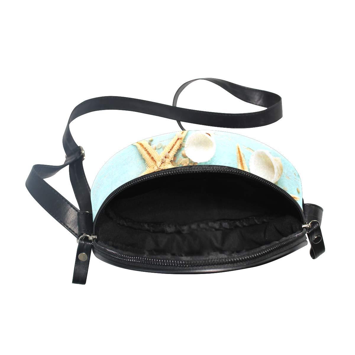 KEAKIA Starfish Round Crossbody Bag Shoulder Sling Bag Handbag Purse Satchel Shoulder Bag for Kids Women