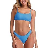 Conjuntos de Bikinis para Mujer Push Up Bikini Traje de baño de Tanga de Cintura Baja Trajes