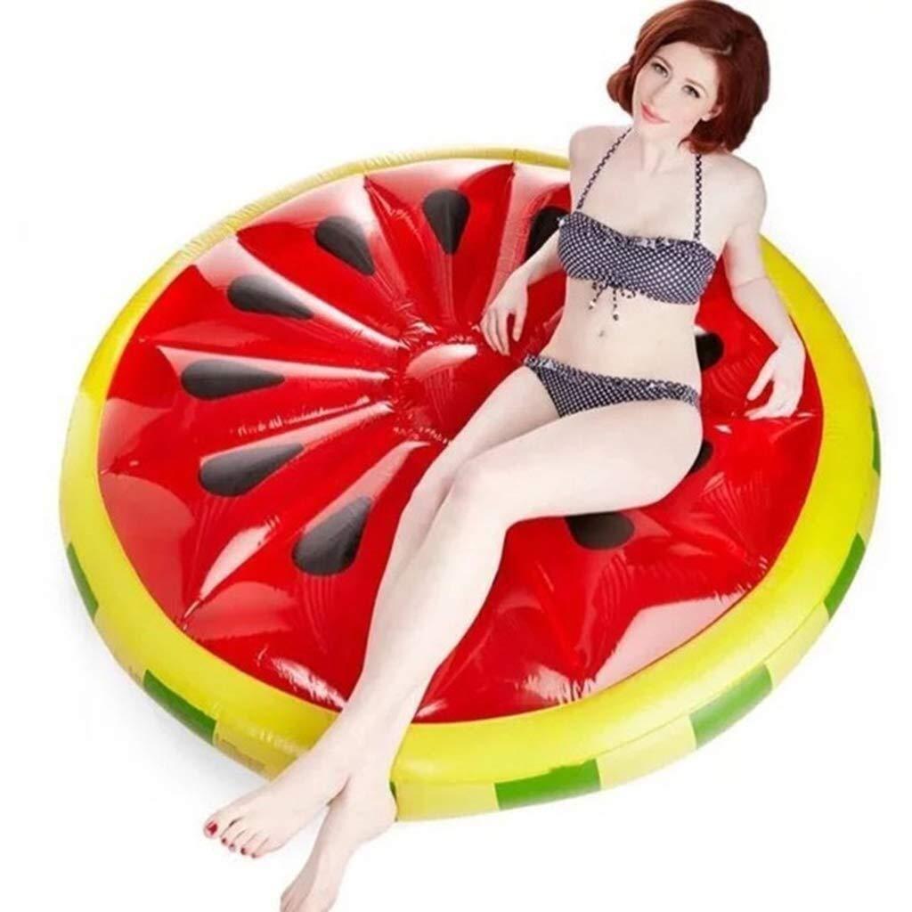 インフレータブルラウンドスイカフローティング行、スイミングプールフロート、子供用の水のおもちゃ、大人用スイミングラウンジチェアフローティングベッド、160センチ 綺麗な