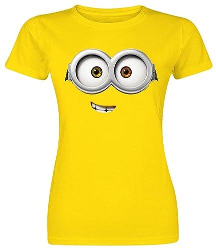 Minions Bob Eye Camiseta Mujer Amarillo