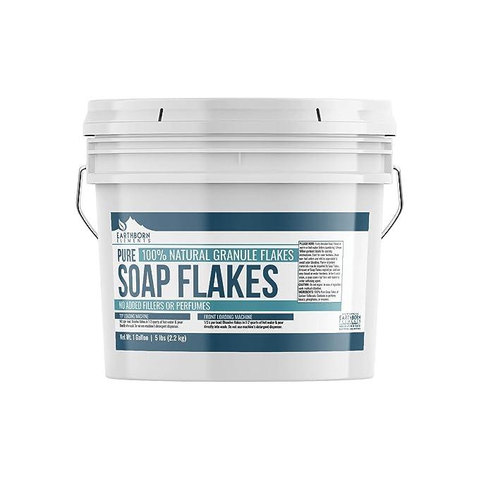 Escamas de jabón puro, ingredientes para hacer detergente líquido ...
