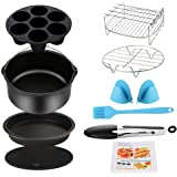 Air Fryer Accessories 9PCS for Gowise Gourmia Cozyna Ninja Air Fryer, Fit all 3.7QT - 5.8QT Power Deep Hot Air Fryer with 7 I