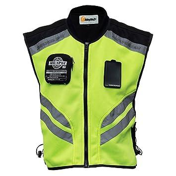 Easygo Chaleco reflectante; nuevo diseño; chalecos de seguridad visibles para motocross/carretera/motociclismo/carreras de motos/viajes/paseos nocturnos.