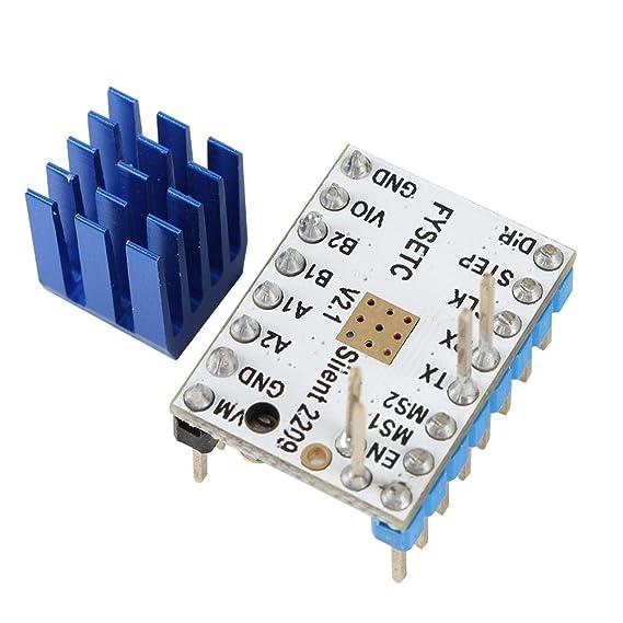 Meetforyou Accesorios para impresoras 3D, TMC2209 V2.0 Voltaje del ...