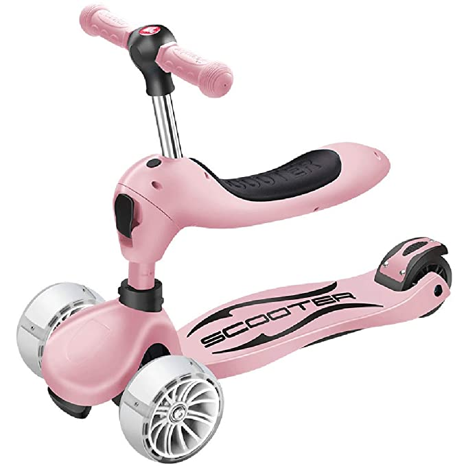 Amazon.com: ZAQ Scooters with Seat and Big Wheels, Boys ...