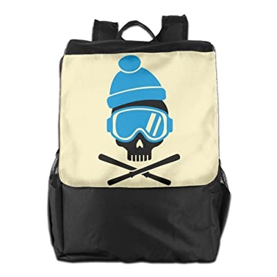 Believe Ddspp Ski Skull With Blue Goggles Outdoor Backpack Rucksack Travel Bag delicate