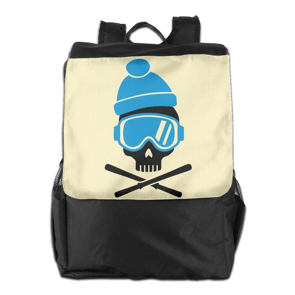 Believe Ddspp Ski Skull With Blue Goggles Outdoor Backpack Rucksack Travel Bag delicate