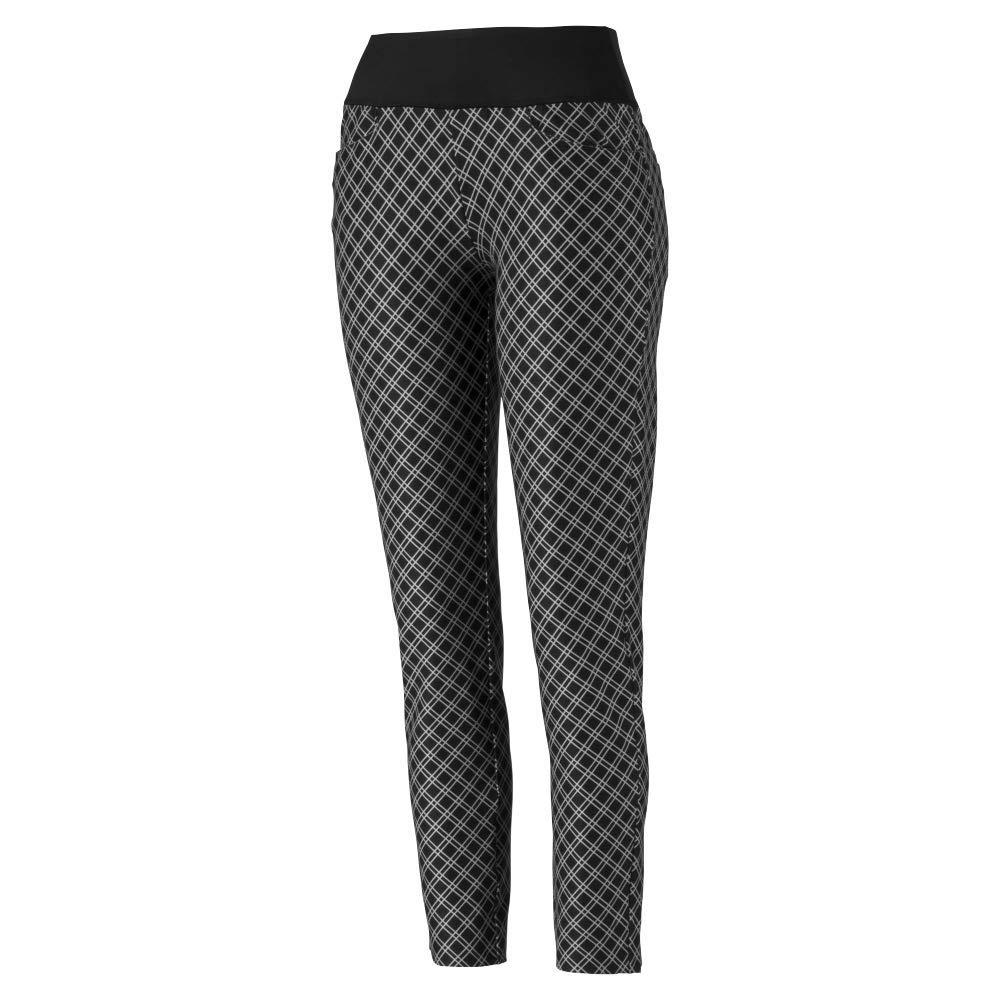 Puma Golf Women's 2019 Pwrshape Checker Pant, Puma Black, Small by PUMA