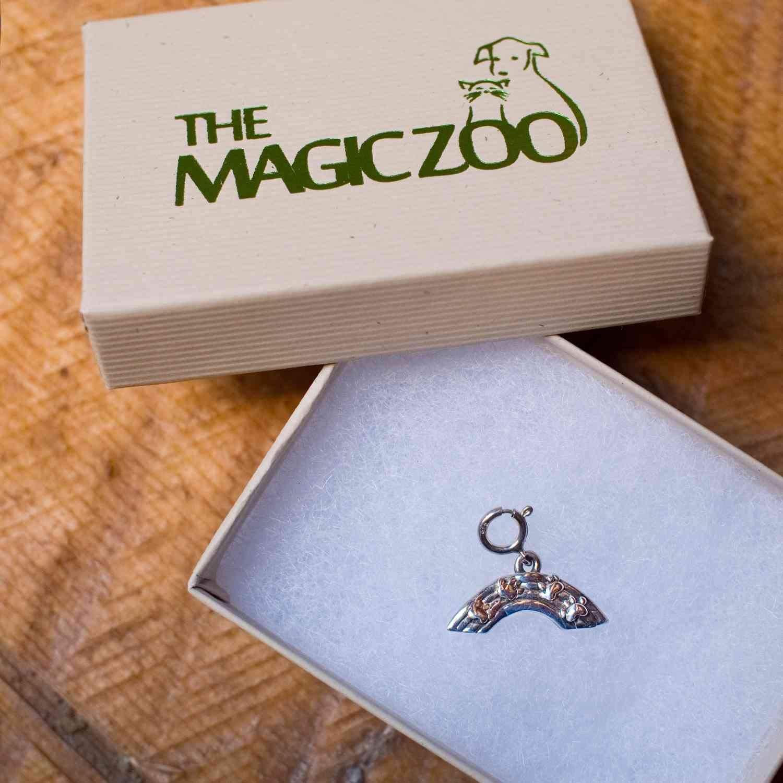 The Magic Zoo Sterling Silver Rainbow Bridge Charm for Charm Bracelet