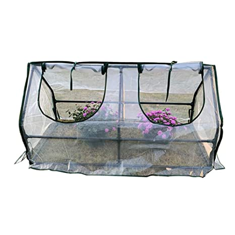 LIANGLIANG- Invernadero de Jardín Planta Exterior Tipo De Túnel Cobertizo Cálido Conservación del Calor Cubierta
