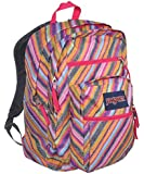 "JanSport Womens Classic Mainstream Big Student Backpack - Multi Texture Stripe / 17.5""H X 13""W X 10""D"
