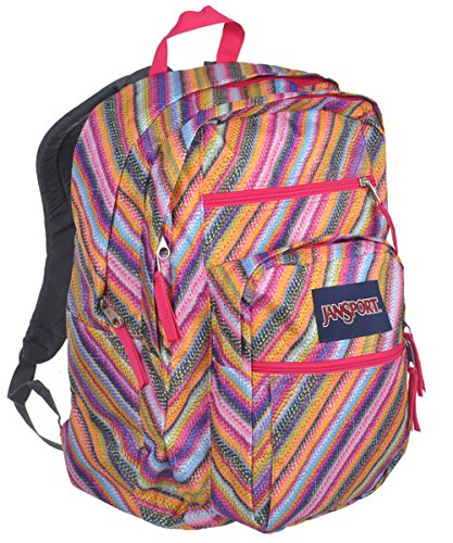 JanSport Big Student Backpack (Multi Texture Stripe) (Trend Rucksack)