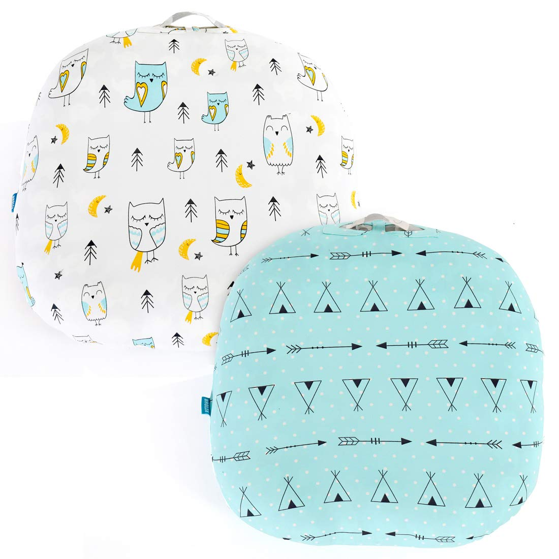 Stretchy-Newborn-Lounger-Cover -2 Pack Sung Fitted Removable Slipcover,Ultra Soft Breathable,Arrow & Owl