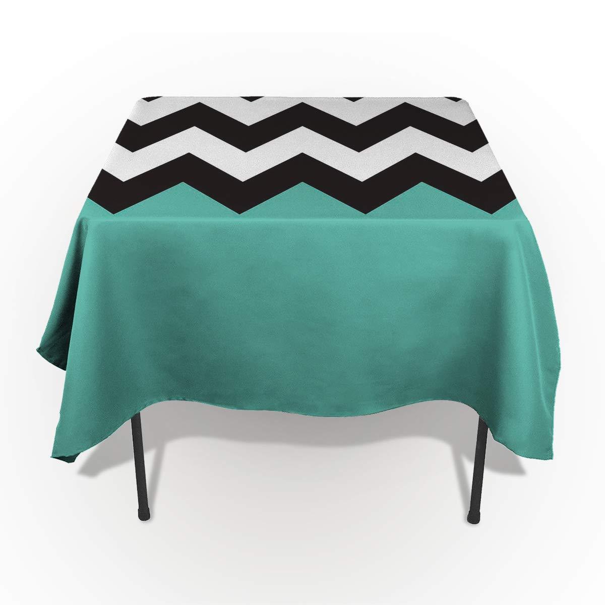 SODIKA コットンリネン テーブルクロス 日本スタイル 波模様 テーブルカバー ディナーキッチン用 60