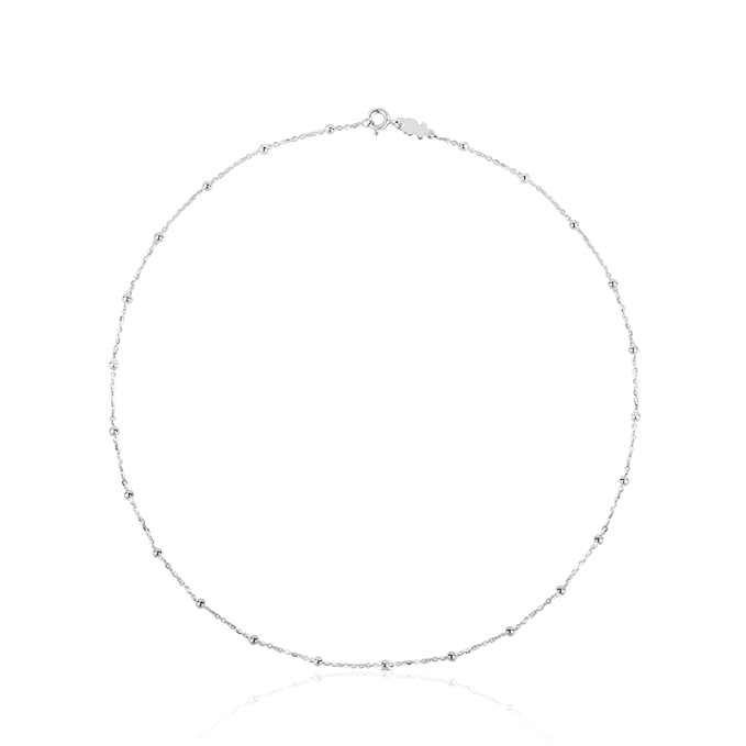 Elegante Gargantilla collar TOUS Chain en Plata de primera Ley, Largo 45,50 cm