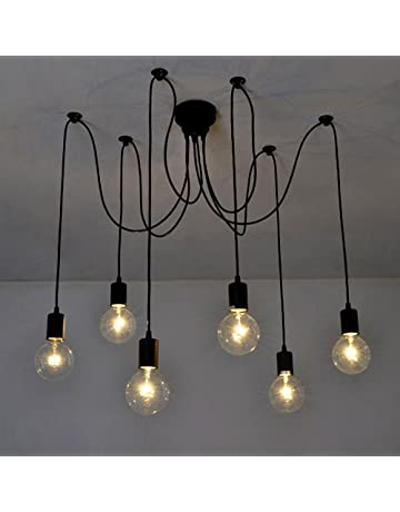 3a0c4f17c418 Lixada 6 Arms(Each with 1.7m Wire) Antique Classic Edison Lamp Shade  Ajustable