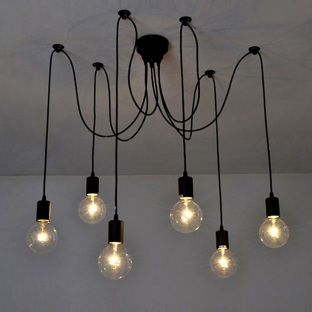 ajustable lamp edison diy spider itm pendant multiple ceiling vintage light lighting