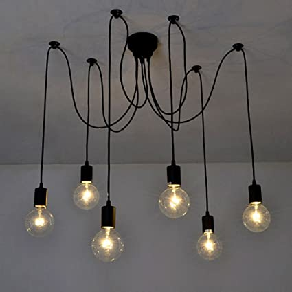 Quality Nice Mordern Nordic Romantic Led Bulb Light Simple Pendant Lights Vintage Loft Creating E27 Art Spider Ceiling Lamp Fixture Light Excellent In