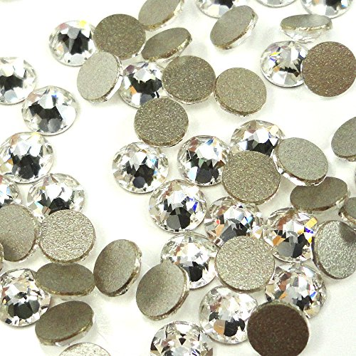 288 pcs (Factory Pack) Crystal (001) clear Swarovski NEW 2088 Xirius 30ss Flat backs Rhinestones 6.4mm ()