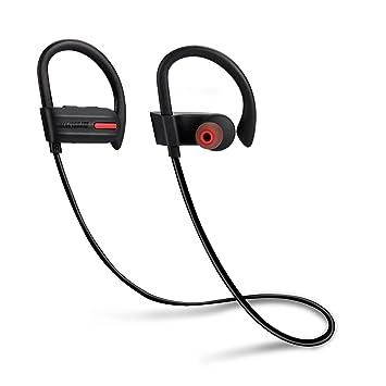 Auriculares inalámbricos en el oído IPX7 Impermeable Bluetooth 4.1 con micrófono para iPhone y Android Smartphones: Amazon.es: Instrumentos musicales