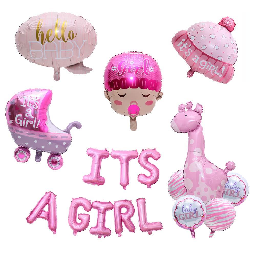Balloon Party 「It's a Girl」ホイルバルーン 17個/セット ヘリウム ベビーショー パーティー クリスマス 新年 結婚 脱動 BP005   B07L893NWD