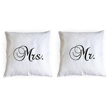 Amazon.com: MR MRS almohadas, almohadas, almohadas, Regalo ...