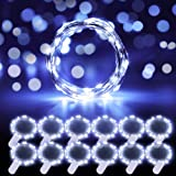 Govee Fairy Lights, 12 Pack Lights Battery Operated, 3.3 Feet 20 LEDs Waterproof Flexible Fairy String Lights for Wedding Bedroom Christmas Festival Decoration Cool White