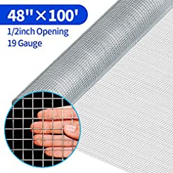 48x100 1/2Inch Hardware Cloth Galvanized...