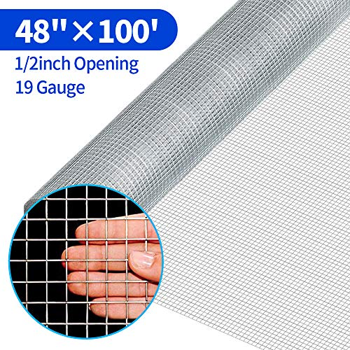 48 x 100 1/2inch Hardware Cloth Welded Wire 19 Gauge Hot-dipped Galvanized Material