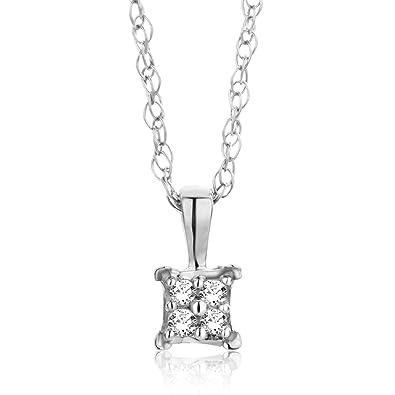 Qualität zuerst Wie findet man offizieller Shop Orovi Kette - Halskette Damen Kette Weißgold 18 Karat / 750 Gold Diamant  Brillianten 0,02 ct 45 cm