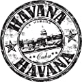 "Zirni Havana City Cuba Travel Grunge Stamp Sticker Decal Design 5"" X 5"""