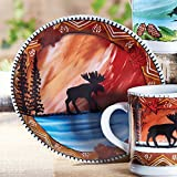 Product review for Setting Sun Moose Stoneware Plate - CLEARANCE