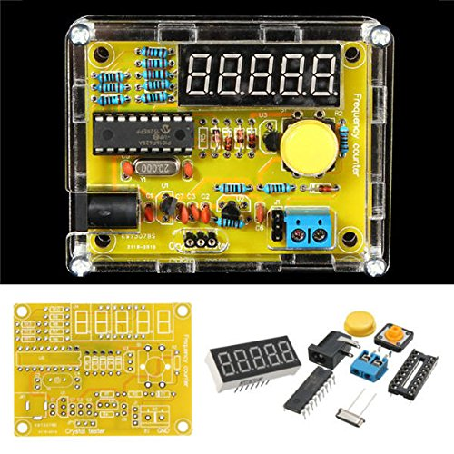 REES52 DIY Kits 1 Hz-50 MHz Crystal oscillator Tester Frequency Counter Tester Meter case Durable DIY led kit