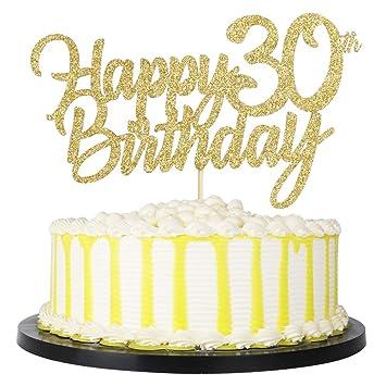 Amazon.com: PALASASA - Decoración para tarta de cumpleaños ...