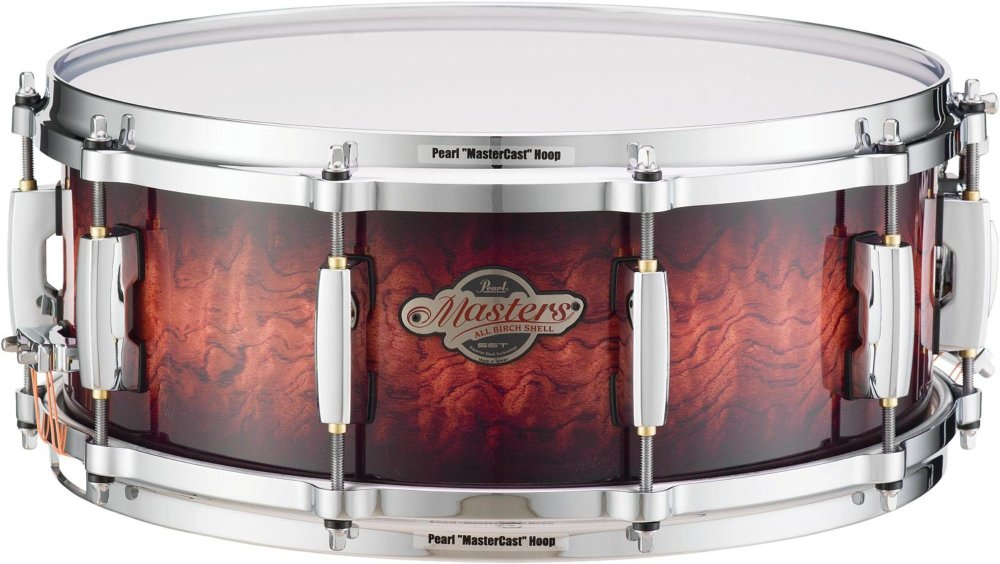 Pearl Masters BCX Birch Snare Drum 14 x 6.5 in. Lava Bubinga by Pearl (Image #1)