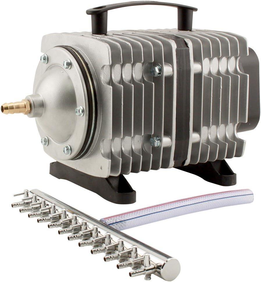 EcoPlus 3566 GPH (13500 LPH, 200W) Commercial Air Pump w/ 12 Valves   Aquarium, Fish Tank, Fountain, Pond, Hydroponics